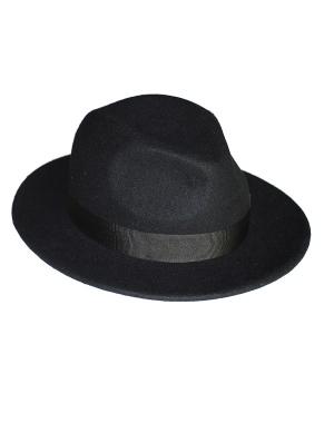 kapelusz fedora black classic z opaskÄ…