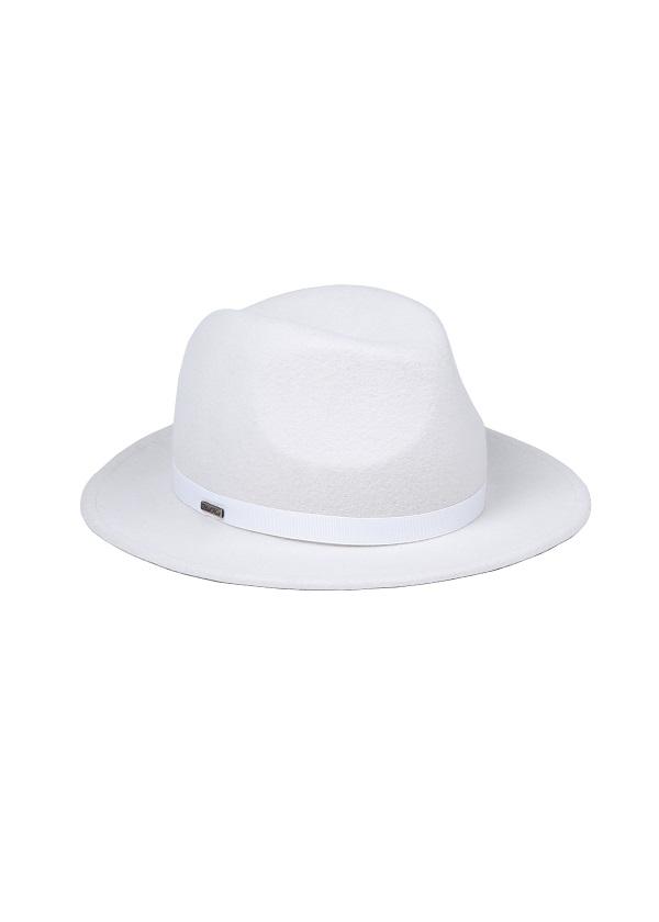 kapelusz model fedora biały