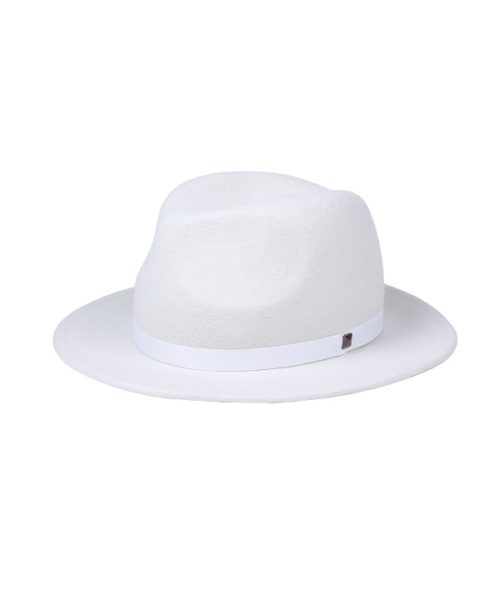 kapelusz fedora biała ćwiek