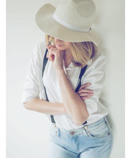 elegancki kapelusz indy biały