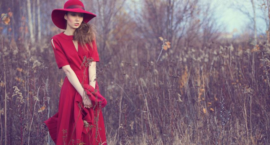 vintage stylizacja na czerwono