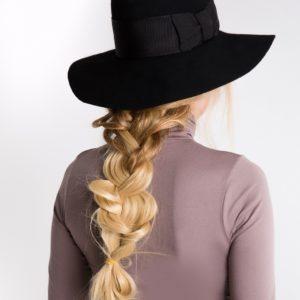 kapelusz lady czarny