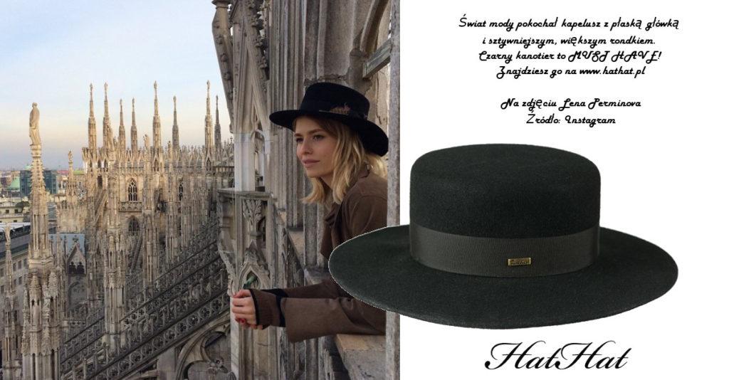 kapelusz kanotier czarny