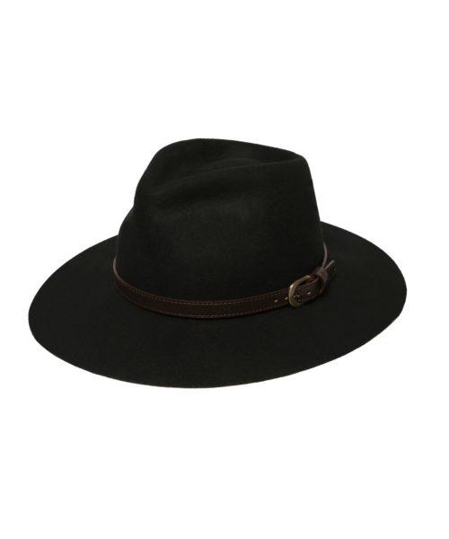 kapelusz czarny fedora olivier