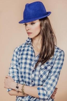 kapelusz mike niebieski