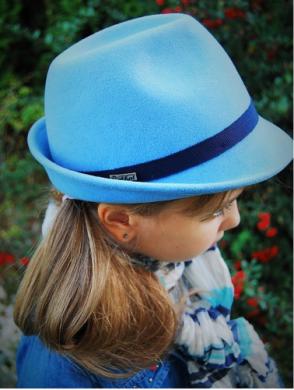 kapelusz dziecięcy mini niebieski