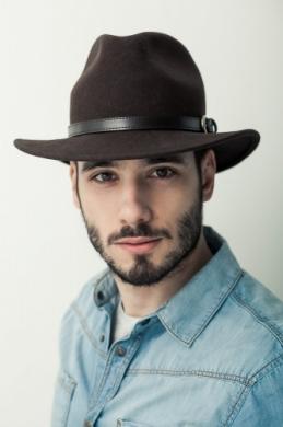 męski kapelusz fedora z paskiem 5