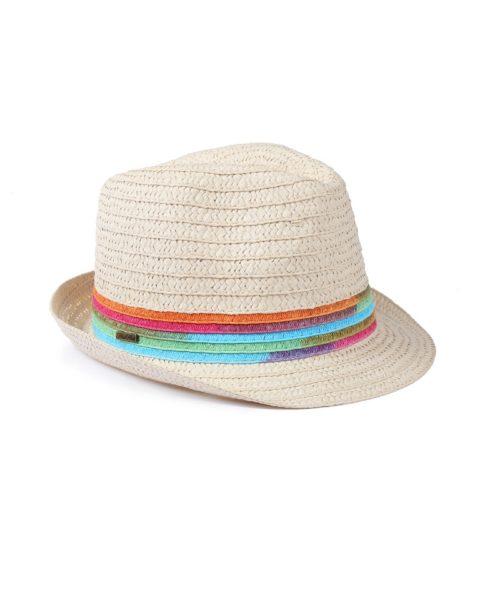 kapelusz letni tęcza beż