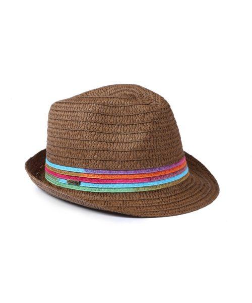 kapelusz letni tęcza brąz