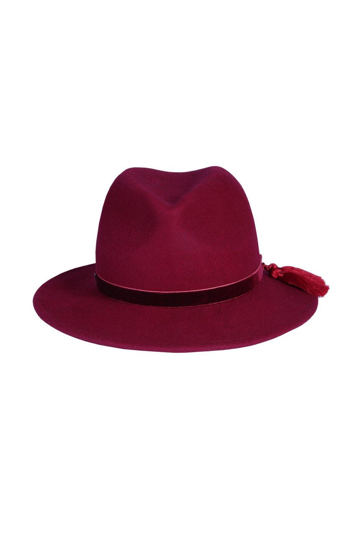 kapelusz fedora fringle czerwony 3