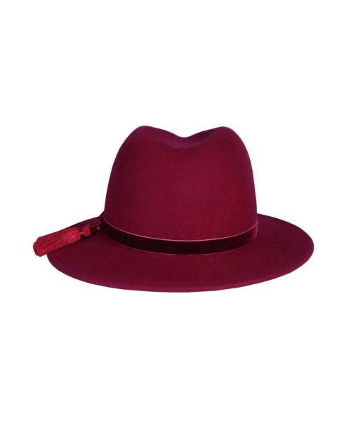 kapelusz fedora fringle czerwony 2