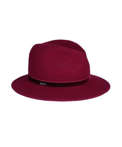 kapelusz fedora fringle czerwony