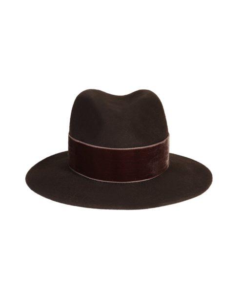 kapelusz fedora braz velvet 3