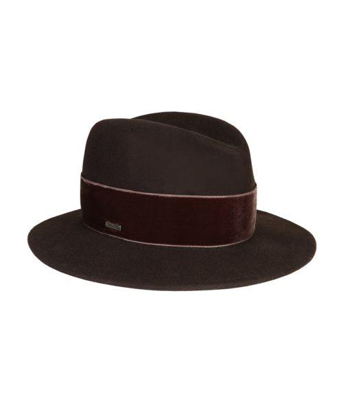 kapelusz fedora braz velvet 2
