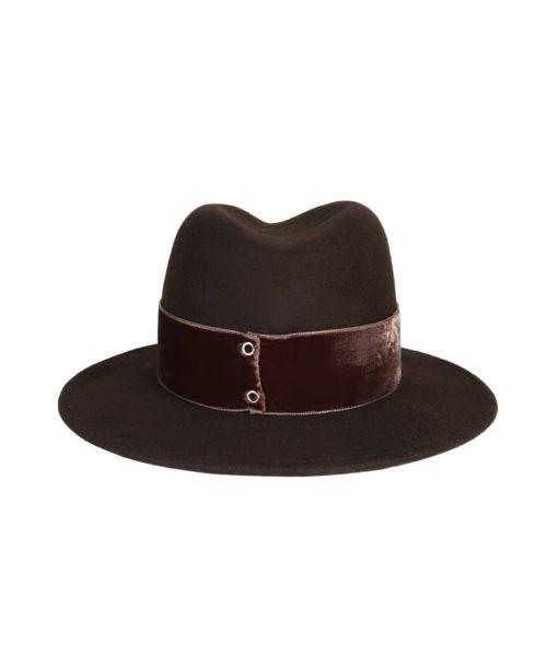 kapelusz fedora braz velvet