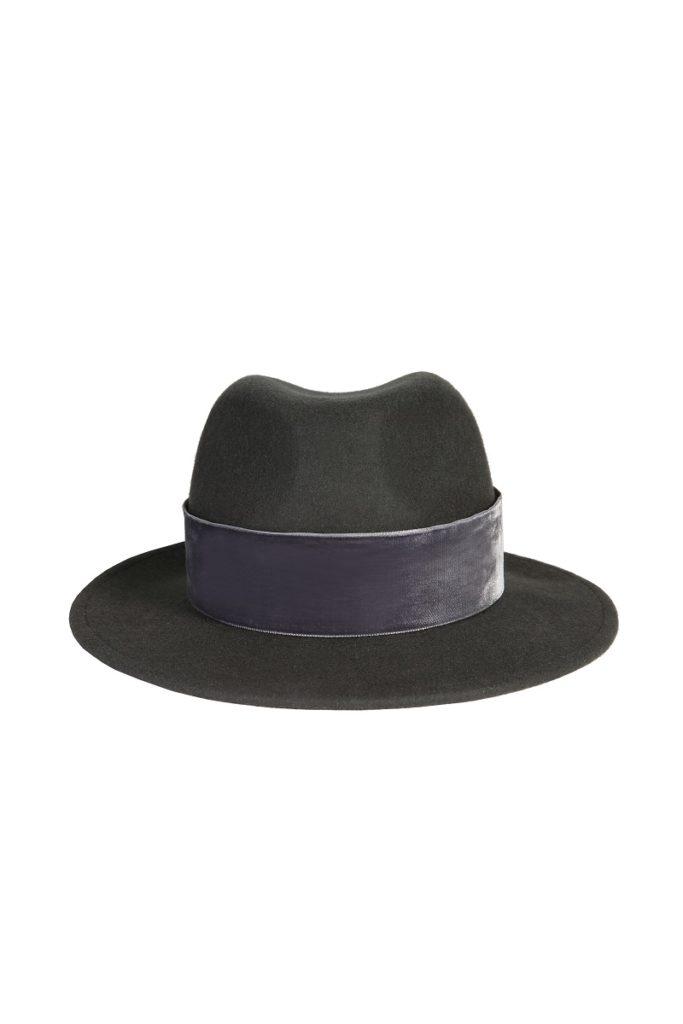 kapelusz fedora grafit velvet 3