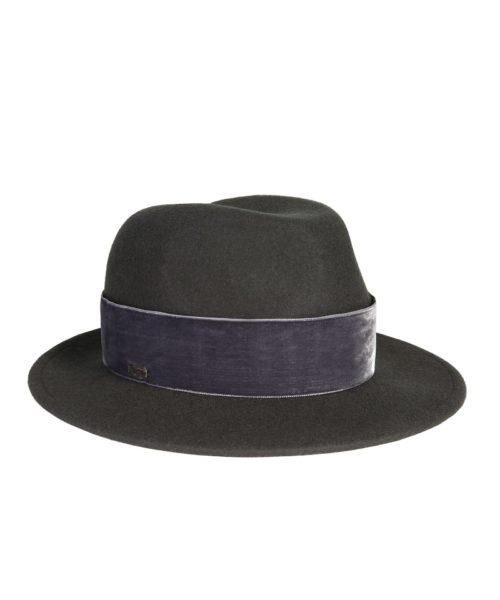 kapelusz fedora grafit velvet 2