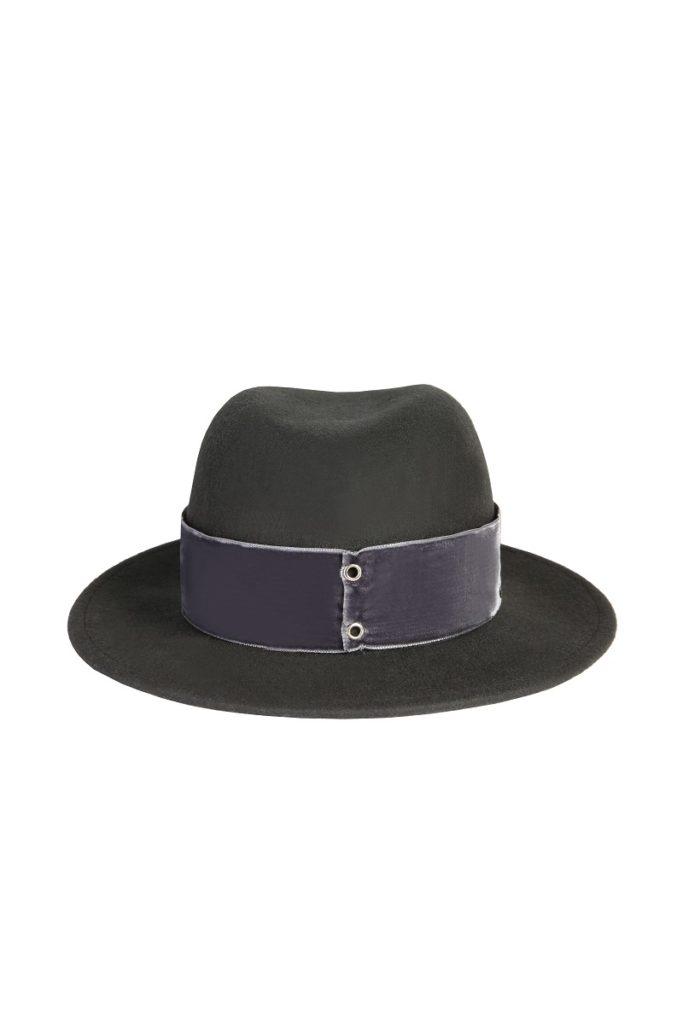 kapelusz fedora grafit velvet