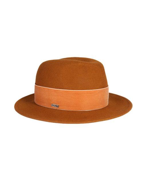 kapelusz fedora rudy velvet 3