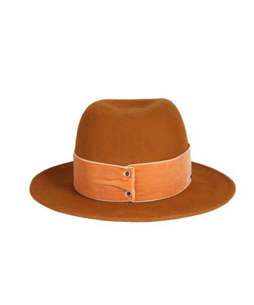 kapelusz fedora rudy velvet