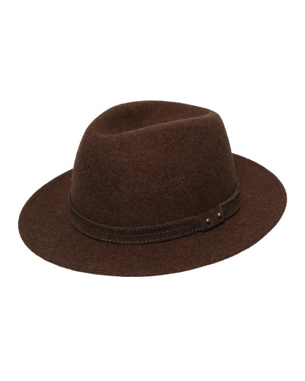 fedora kapelusz brązowy