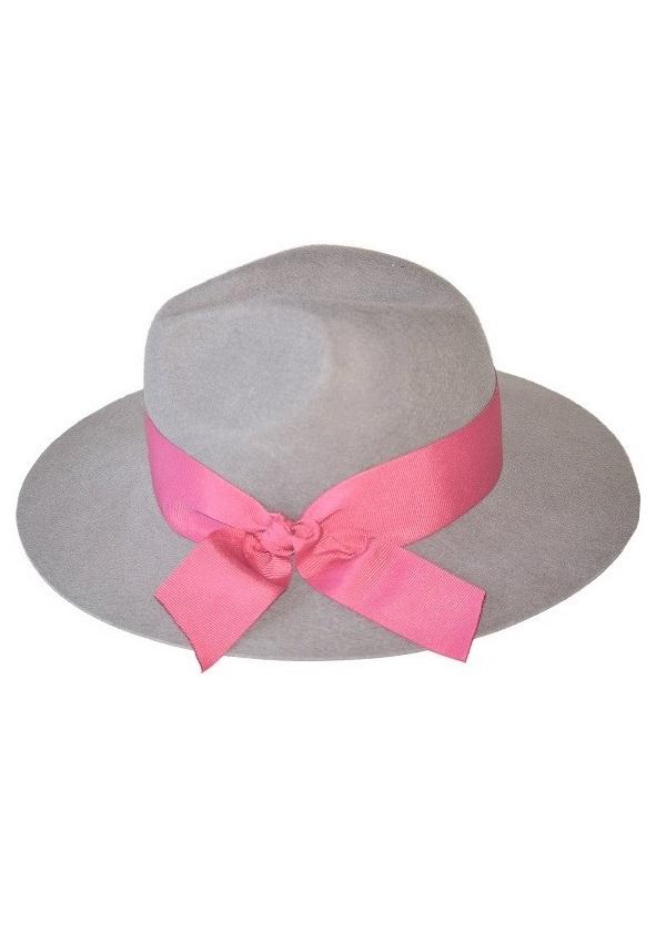 kapelusz indy joy pink z różową wstążką