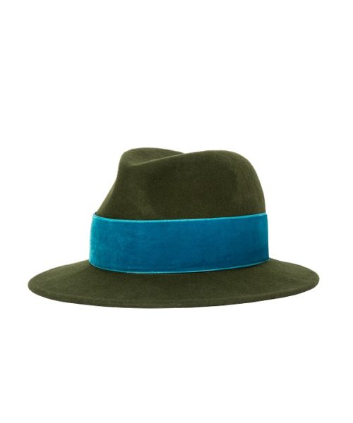 zielono niebieski kapelusz hathat
