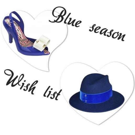 kapelusz i szpilki damskie niebieskie