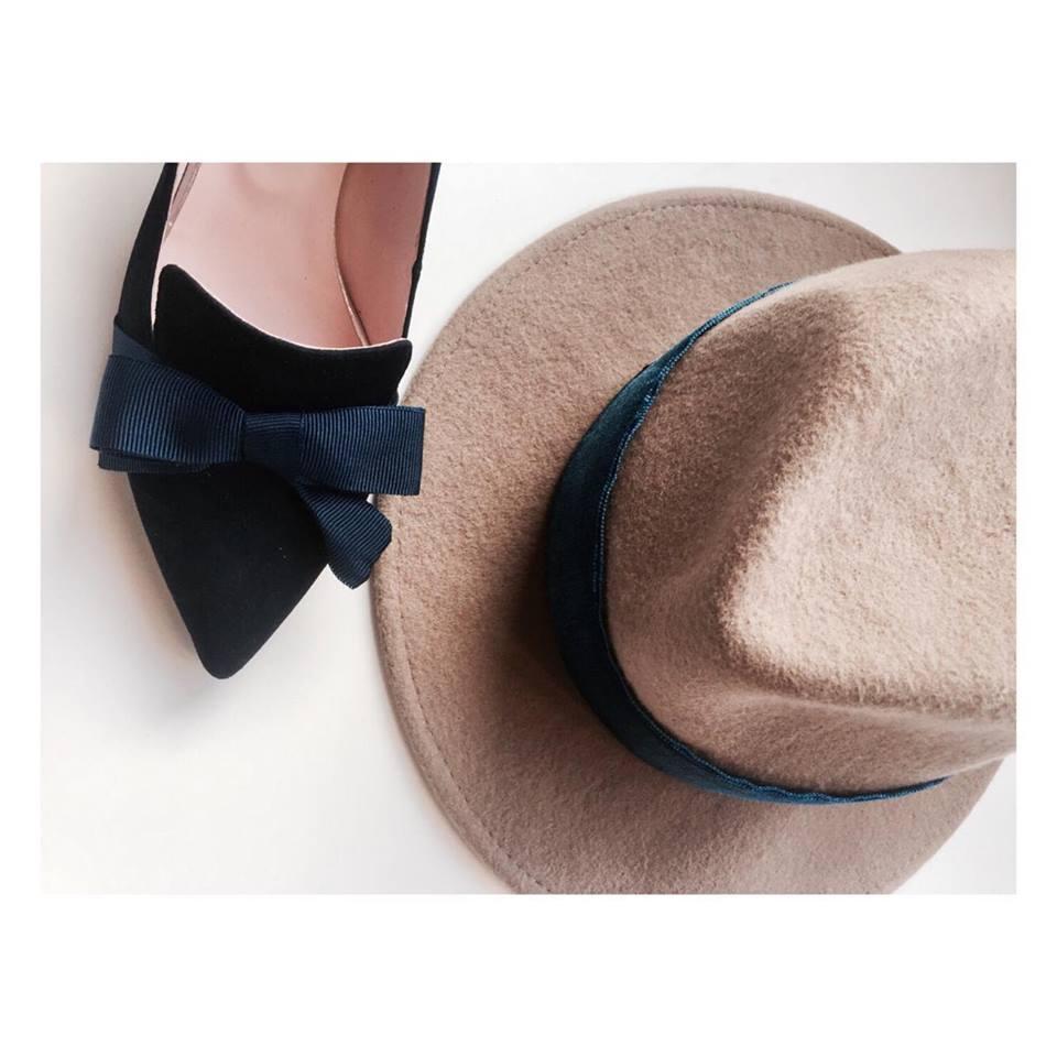 kapelusz fedora beżowy