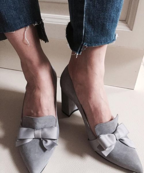 szare loafery buty damskie