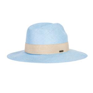 niebieski kapelusz letni panama