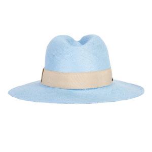 niebieski kapelusz letni