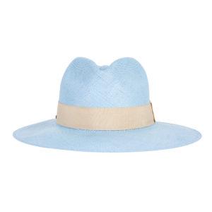 niebieski kapelusz panama