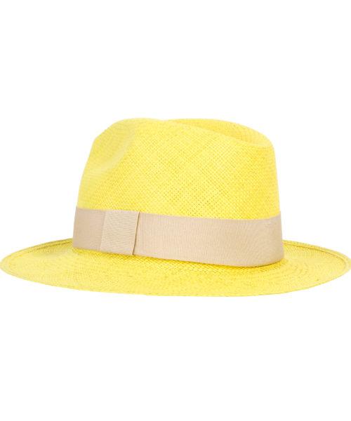 kapelusz panama żółty