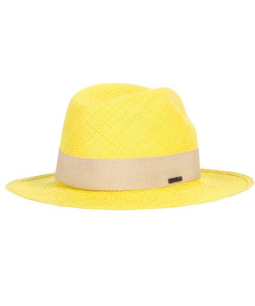 klasyczny kapelusz żółty