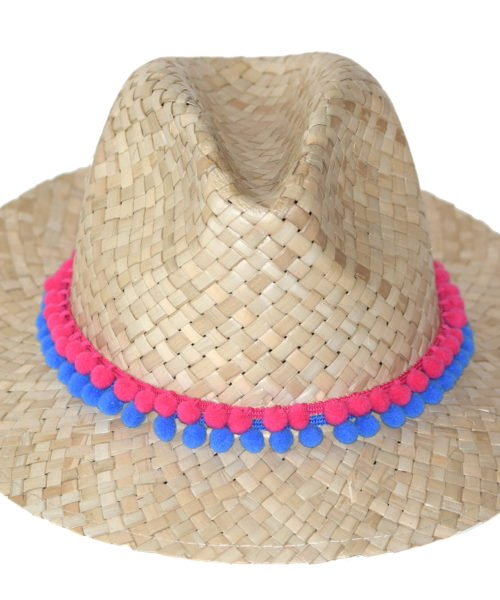 kapelusz letni boho z koralikami