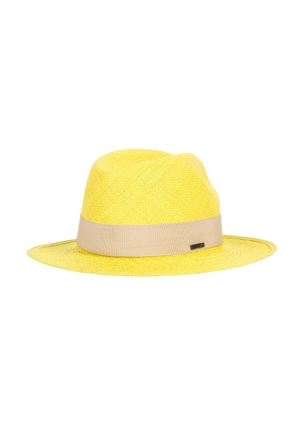 żółty kapelusz panama hathat