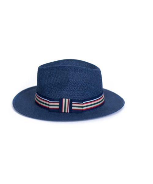 granatowy kapelusz letni saint tropez