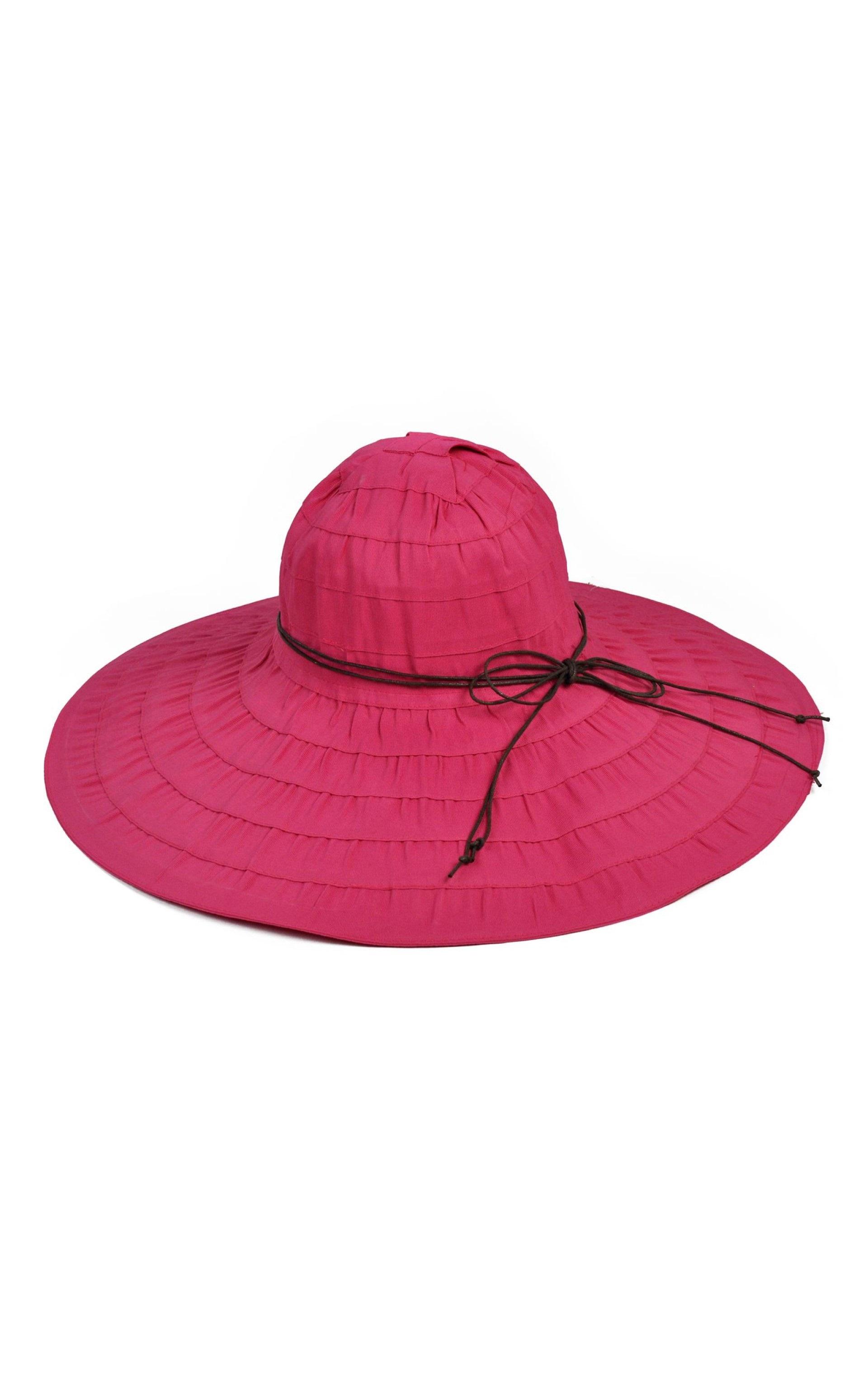 kapelusz bawełniany malina